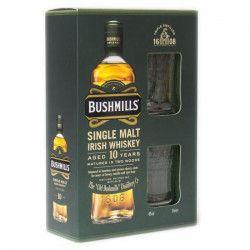 Bushmills 10 ans - Single Malt - Irish Whiskey - 40% - 70 cl - Coffret + 2 verres