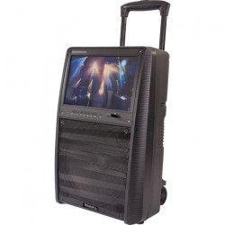 IBIZA SOUND 17-2510 Enceinte portable autonome 12`/30cm, 800W - Ecran TFT couleur 15`, Bluetooth, télécommande &