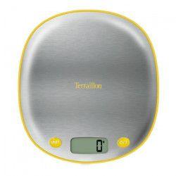 TERRAILLON Balance MACARON INOX CITRON - Electronique - Plateau inox - 5 kg - LCD - Tare - Conversion g / ml /