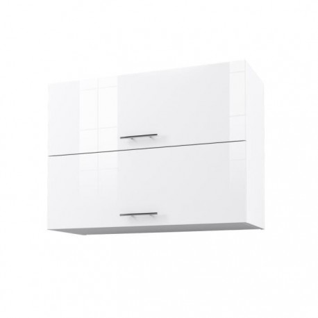 city meuble haut de cuisine 80 cm laqu blanc brillant. Black Bedroom Furniture Sets. Home Design Ideas