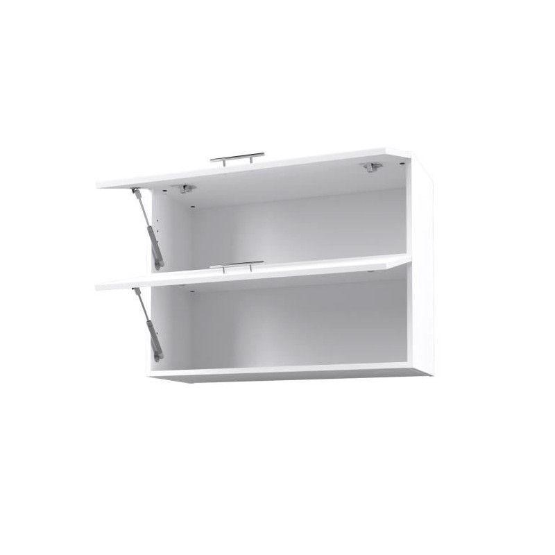 City meuble haut de cuisine 80 cm laqu blanc brillant - Meuble de cuisine blanc laque ...
