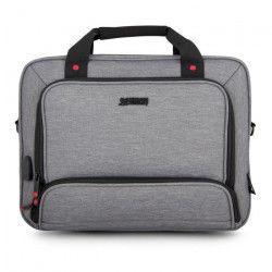 URBAN FACTORY Sacoche MTE14UF pour PC Portable - 13`` / 14`` - Port USB et câble pour smartphones et tablettes -