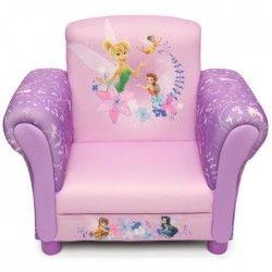 LES FEES Fauteuil Enfant Chesterfield Clochette Rose et violet