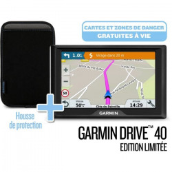 GARMIN Pack GPS Drive? 40 Cartes a vie (LM) Edition limitée + Housse de transport