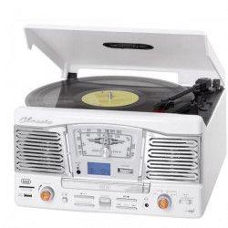 TREVI TT-1065E Platine Vinyle- 33 et 45 tours - Blanc