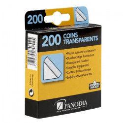 PANODIA Boîte de 200 coins photos adhésifs transparents
