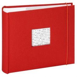 PANODIA Album photos pochettes Linea - 200 vues - 11,5 x 15 cm - Rouge
