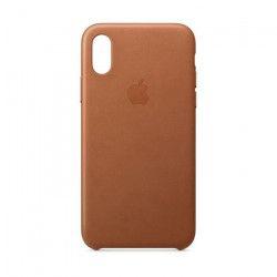 Coque en cuir pour iPhoneXS - Havane