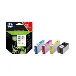 HP 920XL Pack de 4 cartouches d`encre Noir, Cyan, Magenta, Jaune grande capacité authentiques (C2N92AE)