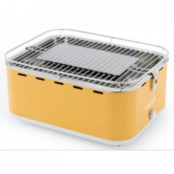 BARBECOOK Barbecue de table au charbon Carlo - Inox - 38,5x28,5 cm