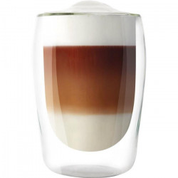 MELITTA Lot de 2 verres en borosilicate pour latté Machiatto 300 ml transparent