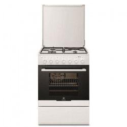 ELECTROLUX EKM60300OW-Cuisiniere table mixte gaz / électrique-4 zones-Four électrique-Catalyse-54 L-L 60 x H 88,9