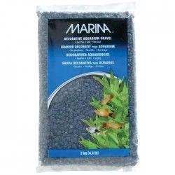 Gravier bleu marine pour aquarium 2 kg