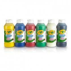 CRAYOLA 6 Bouteilles de peinture lavable