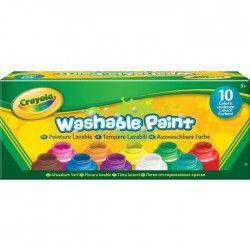 CRAYOLA 10 Pots de peinture lavable