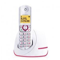Alcatel F390 Solo Téléphone Sans Fil Sans Répondeur Blanc Rose