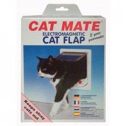 PET MATE Chatiere électronique 254W - Blanc - Pour chat