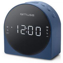Radio-réveil double alarme MUSE - M185CBL