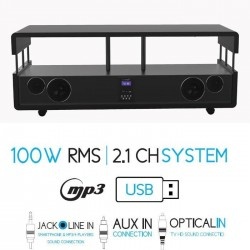 SOUNDVISION SoundStand20B Meuble TV HiFi 100W RMS bluetooth noir