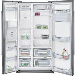 SIEMENS KA90DVI20 - Réfrigérateur américain - 533L (370+157) - Froid ventilé - A+ - L 91cm x H 177cm - Inox