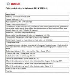 Sèche-linge frontal BOSCH - WTR85V01FF
