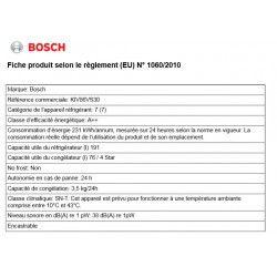 BOSCH KIV86VS30 -Réfrigérateur encastrable congélateur bas-267 L (191 L + 76 L)-Froid statique-A++ - L 56,2 x H