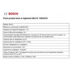 Réfrigérateur combiné BOSCH - KGN36VW35